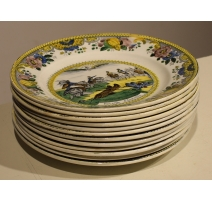 """Lot de 12 assiettes """"Napoléon"""" porcelaine de Chois"""