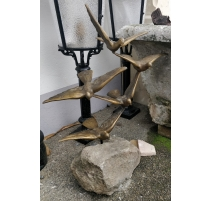 """Bronze """"Cinq Oiseaux en vol"""""""
