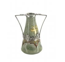Vase conique signé E GRANGER Sèvres
