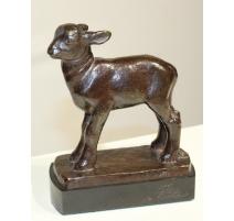 Agneau en bronze signé VALLETTE
