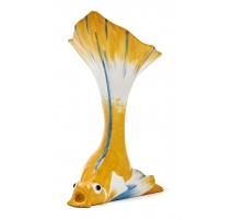 "Vase ""Poisson"" jaune signé SANDOZ"