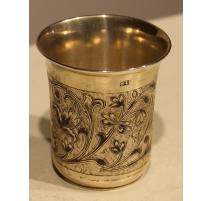 Gobelet en argent russe 875 niellé daté 1854