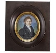 """Miniature """"Portrait d'homme au manteau noir"""""""