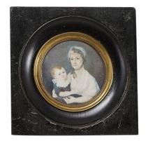 """Miniature """"Portrait femme et enfant"""""""