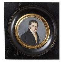 """Miniature """"Portrait d'homme"""" signé FINOT 1824"""