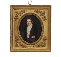 """Miniature """"Portrait d'homme"""" signé BRETON 1834"""