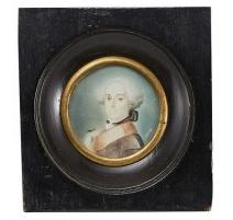 """Miniature """"Portrait d'homme"""" signée THOM"""