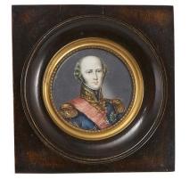 """Miniature """"Portrait d'homme en uniforme"""" signée"""