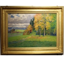 """Tableau """"Paysage d'automne"""" signé FÜRST 1918"""