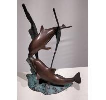 Dauphins en bronze