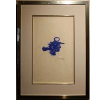 """Lithographie """"Tête Grecque"""" signée BRAQUE"""