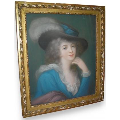 "Pastel ""Lady Hamilton""."