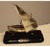 Maquette de bateau en argent 800 Malte 1935