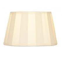 Abat-jour ovale plissé beige
