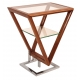 Table d'appoint Iso coloris Noyer