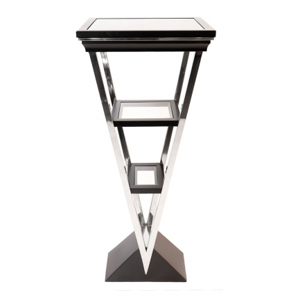 """Piédestal """"Montaigne Triangle"""" teine noir mat"""