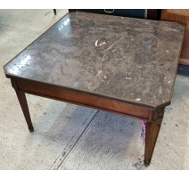 "Table basse ""Saint-Euverte"" dessus marbre"
