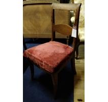Suite de 6 chaises Louis-Philippe pieds sabre