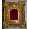 Cadre Napoléon III en stuc doré
