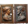 Paire de bas-reliefs en régule