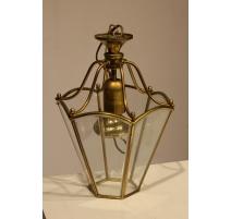 Lanterne hexagonale en laiton