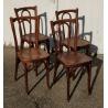 Suite de 4 chaises de bistrot par HORGEN GLARUS