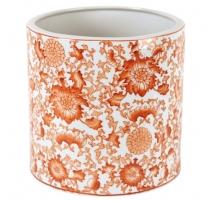 Cache-pot rond en porcelaine corail