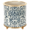 "Cache-pot rond en porcelaine ""Chinois"", grand"