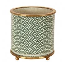 """Cache-pot rond en porcelaine """"Géométrique"""", grand"""