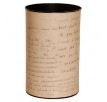 Corbeille à papier peinte en écriture