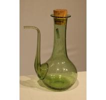 Carafe verseuse en verre vert de BIOT
