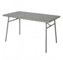 Table de jardin Jurata en fer gris clair