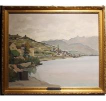 """Tableau """"Lavaux"""" signé Benj. VAUTIER 1930"""