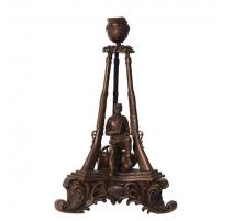 Bougeoir en bronze Mémorial de guerre