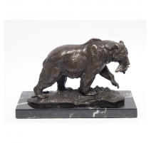 Bronze Grizzly, socle en marbre