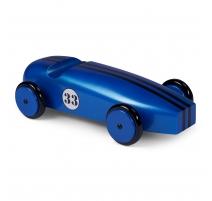 Modèle de voiture en bois, Bleue