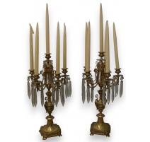 Pair of candelabras
