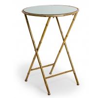 Table bout de canapé bambou doré