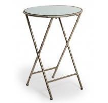Table bout de canapé bambou argenté
