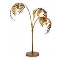Lampe Palmier en métal doré