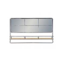 Miroir industriel en métal avec étagère