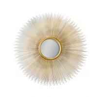 Miroir soleil convex en métal doré