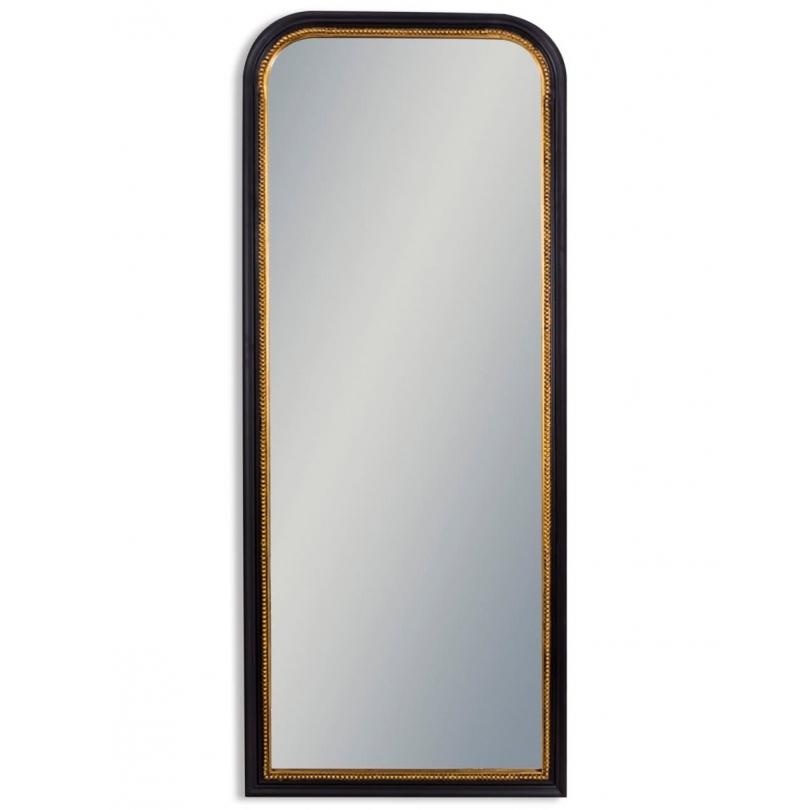 Miroir à poser noir et or