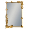 Miroir rectangulaire avec papillons, doré