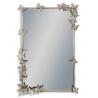 Miroir rectangulaire avec papillons, argenté