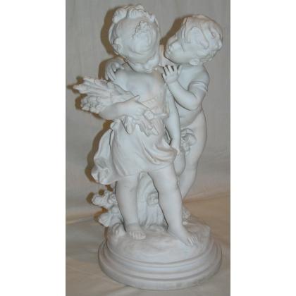 """Groupe en porcelaine """"Enfants"""""""