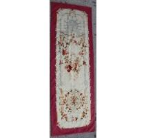 Portière en tapisserie d'Aubusson décor fleurs