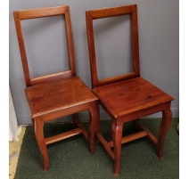 Paire de chaises Lorraine, pieds galbés