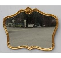 Miroir style Louis XV doré