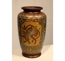 Vase cloisonné décor phoenix